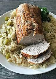 pork roast sauer recipe baked in