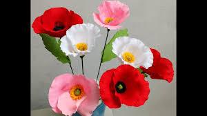 Make A Paper Poppy Flower How To Make Paper Flowers Poppy Flower 80