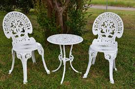 white iron outdoor furniture. White Iron Garden Furniture. Angel Bistro Set - Table And Two Chairs For Outdoor Furniture B