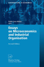 essays on microeconomics and industrial organisation pablo coto preview