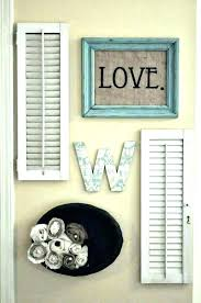shutter wall decor room decorating ideas vintage shutters wall decor small home rustic shutter wall decor