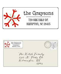 Party On White Snowflake Holiday Personalized Address