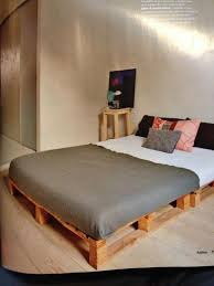 Pallet Bedroom Furniture How To Create A Wooden Pallet Bed Pallet Idea