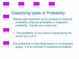 Types Of Probability Ppt 3 1 Basic Concepts Of Probability Powerpoint