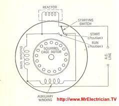 fractional horsepower electric motor diagrams mr electrician dayton split phase motor wiring diagram reactor start split phase induction electric motor internal wiring diagram