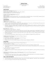 Uchicago Resume Template
