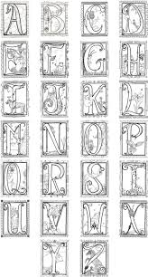 Illuminated Alphabet Coloring Poster 8 00 Via Etsy Alphabet