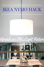 ikea chandelier easy light fixture update an old drum shade