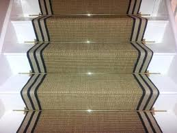 how to install indoor outdoor carpet on concrete stairs sisal gold striped border carpet runner for