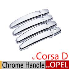 for opel corsa d 2006 2018 chrome door handle covers trim set vauxhall opc vxr