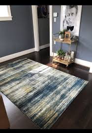 west elm verve midnight mcm rug 5x8 rug mid century modern