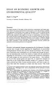 economic growth essay essay on economic growth and environmental quality springer