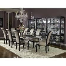 Beautiful AICO Michael Amini Hollywood Swank Starry Night 9pc Dining Table Set