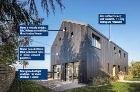 At the features the home has softwood walls and cladding which means hot air is
