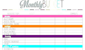 Free Finance Spreadsheet Monthly Expense Spreadsheet Template Excel