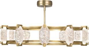 fine art lamps 872940 2st allison paladino modern gold leaf led hanging chandelier loading zoom