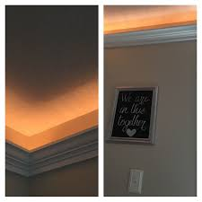 crown molding lighting. Indirect Lighting Is So Awesome! I Used Crown Molding Dropped About 8 Inches From The