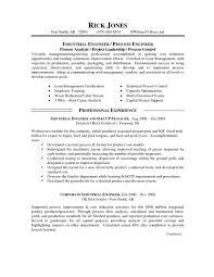 Sample Industrial Engineer Resume Sales Engineering Rega Sevte