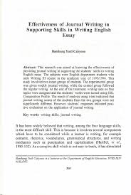 effectiveness of journal writing in supporting skills in writing  effectiveness of journal writing in supporting skills in writing english essay pdf available