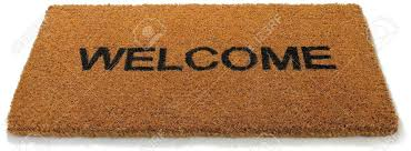 open door welcome mat. A Hessian Welcome Mat Matt On Open Door