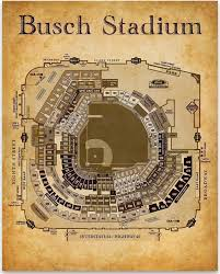 Busch Stadium Seating Chart 11x14 Unframed Art Print Great Sports Bar Decor And Gift Under 15 For Baseball Fans