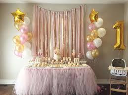 Baby Girl First Birthday Party Food Table  Wwwmanionamorcom 1st Birthday Party Ideas Diy