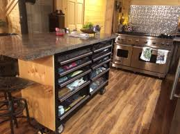 Lowes Upper Kitchen Cabinets Lowes Toolbox Converted Into A Kitchen Island Complete With