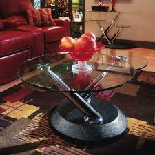 glass form furniture. magnussen modesto swivel free form glass top cocktail table in black furniture