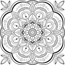 Mandala Free Printable Free Printable Flower Mandala Coloring Pages