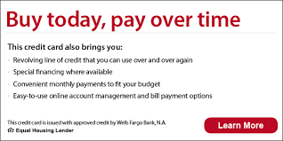 Maybe you would like to learn more about one of these? Financing With A Carrier Credit Card From Wells Fargo E A C