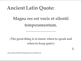 Latin Quotes Magnificent Speak Or Not In Latin On We Heart It