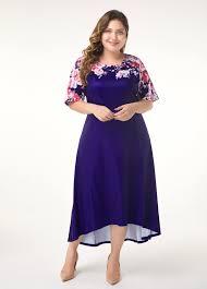 Modlily Size Chart Dip Hem Flower Print Plus Size Dress Modlily Com Usd 29 47