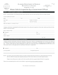 Form Fill Sign Pdf Template And - Vin Printable Alabama Signnow Out Inspection