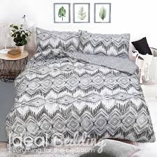 home zig zag geo grey effect duvet quilt bedding cover and pillowcase bedding set previous next