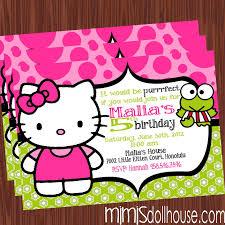 hello kitty invitation lime mimi s dollhouse lime hello invite display no pic