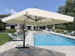 white square patio cantilever umbrella for home pool