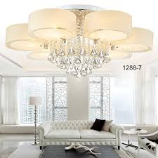 modern 3 5 7 lamp crystal led ceiling lights living room light chandeliers 1288h