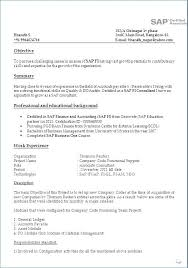 Sap Abap Resumes 2 Years Experience Free Download Best of Implementation Resume Sample Sap Bi Sample Resume For 24 Years