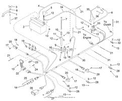 toro professional 74201 z255 z master 1998 sn 890001 899999 electrical system
