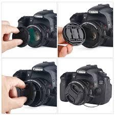 Lens Cap Design Unique Design Lens Cap Bundle 3 Pcs Center Pinch Lens Cap And Cap Keeper Leash For Canon Nikon Sony Dslr Camera Microfiber Cleaning Cloth
