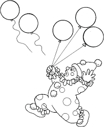 circus themed coloring pages carnival page and clown lose his balloons theme preschool