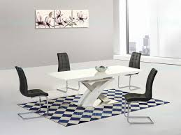cream gloss dining table set white high and grey chairs extending