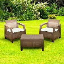 keter corfu balcony brown rattan garden furniture set seat bistro delivery galleryl