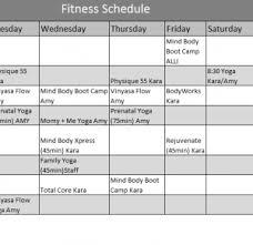 Fitness Calendar Template My Excel Templates