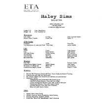 Sample Acting Resume No Experience Www Freewareupdater Com