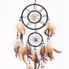 Dream Catcher History Delectable Wish Dream Catcher Wall Hanging With Beads Shells Feathers Art