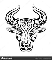 Taurus Tetování Jako Symbol Zvěrokruhu Stock Vektor Akvlv