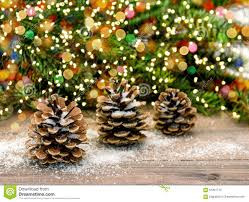 Pine Branches For Decoration Pine Cone And Christmas Tree Branches Color Lights Decoration