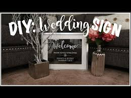 Diy Easy Welcome Wedding Sign Weddings Sarah Types Decor Most Delightful Way Budget Sarahtypes Hand Lettered Img Vi Sddefault