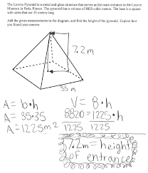 MFAS_LouvrePyramid_image1 louvre pyramid students are asked to find the height of a square on area problems worksheet